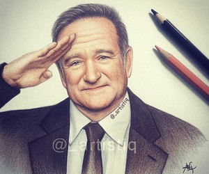drawing, robin williams, and artistiq image