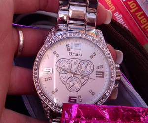 style, watch, and silver image