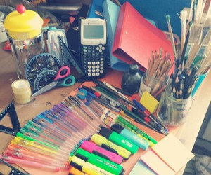 motivation, school, and pens image