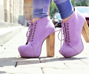 shoes, purple, and heels image
