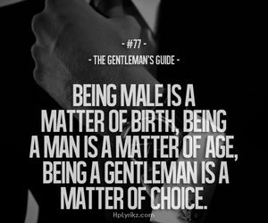 quotes, gentleman, and male image