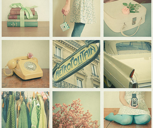 green, vintage, and telephone image