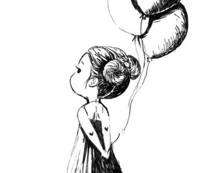 drawing, cute, and balloons image