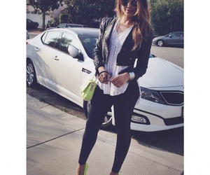 girl, style, and car image
