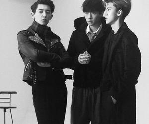 exo, lay, and sehun image