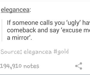 elegant, mirror, and notes image