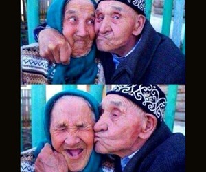happiness, love, and old image
