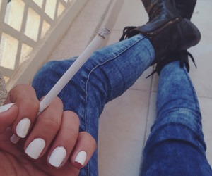 cigarette, fashion, and nails image