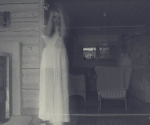 black and white, dress, and spirits image