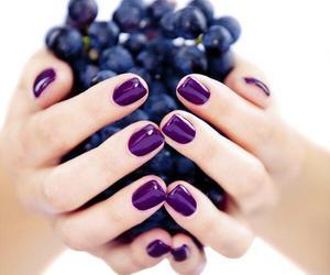 nails, purple, and grapes image