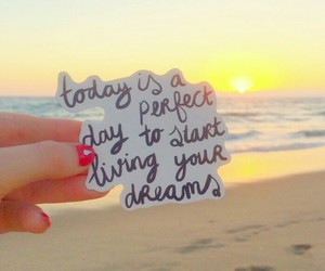beach, sunset, and dreams image