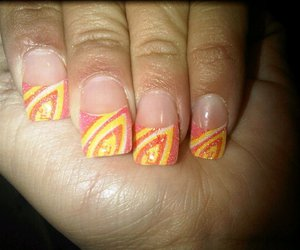 design, nails, and orange image