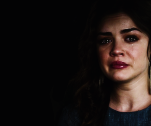 crying, unhappy, and lucy hale image