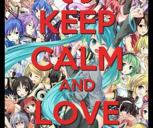 anime, keep calm, and vocaloid image