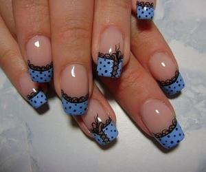 nail, black, and fashion image