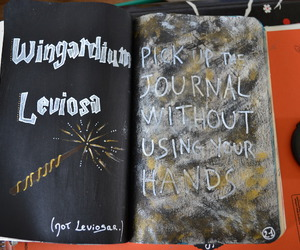 harry potter, wreck this journal, and WTJ image