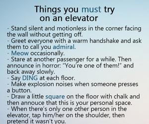 elevator, funny, and haha image