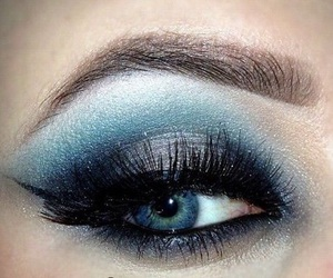 makeup, eyes, and mascara image