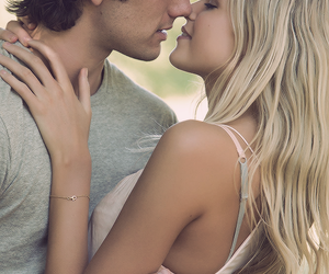 blonde, kiss, and couple image