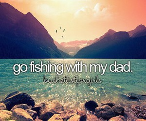 dad, evening, and fishing image