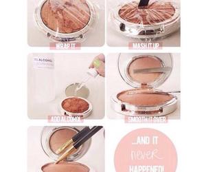 makeup, powder, and tutorial image