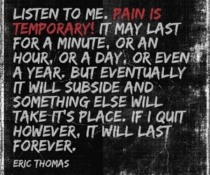 motivation, pain, and quotes image