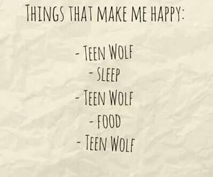 teen wolf, sleep, and food image