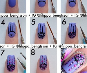 nails, nail art, and tutorial image