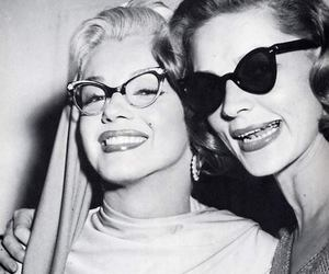 Marilyn Monroe, vintage, and glasses image