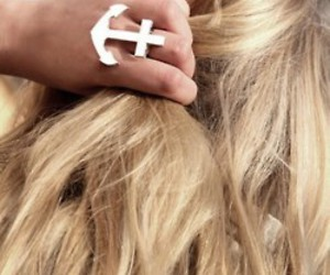 hair, girl, and ring image