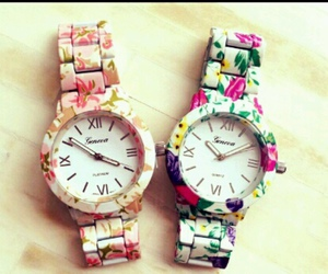 flowers, watch, and clock image