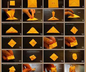pikachu, origami, and pokemon image