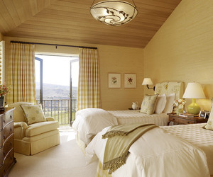 bedroom., guest bedroom, and black accents image