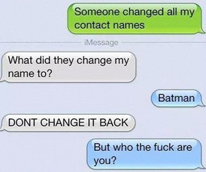 batman, conversation, and funny image