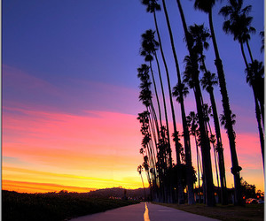 sunset, road, and summer image