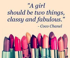 coco chanel, lipstick, and makeup image