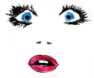 eyes, face, and lips image