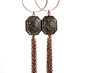 asian, earrings, and vintage image