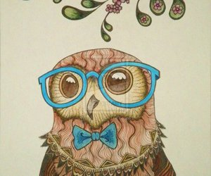 owl, glasses, and hipster image