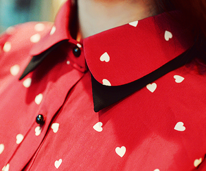 red, fashion, and heart image