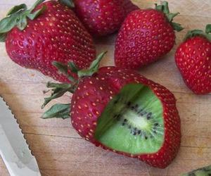 strawberry, kiwi, and fruit image