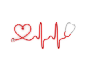 heart, stethoscope, and hearbeat image