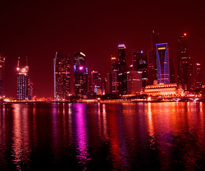 city, cityscape, and city lights image