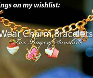 bracelet, bucketlist, and two rays of sunshine image