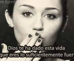 miley cyrus, frases, and god image