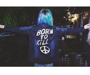born to kill, grunge, and hair image