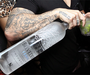 vodka, tattoo, and drink image