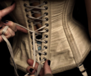 corset, black and white, and vintage image