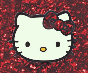 HelloKitty, wallpaper, and red image