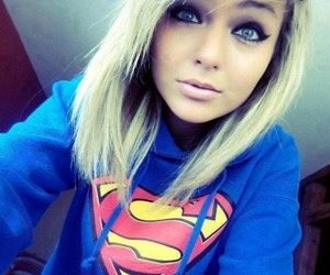 girl, superman, and blonde image